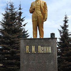 На Украине оторвали голову памятнику Ленина