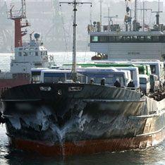 Китайское судно протаранило российский теплоход