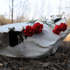 Как в Москве падают самолеты