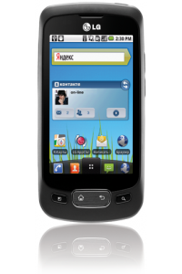 Стартовали российские продажи Android смартфона LG Optimus One