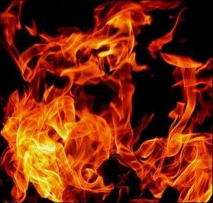 Пожар на кладе в Перми