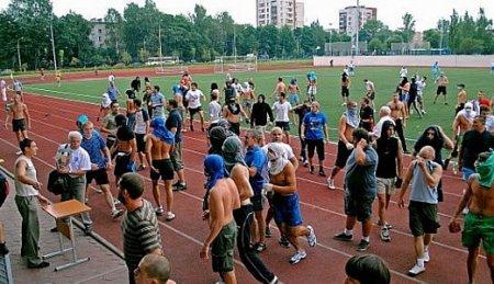"""Бойня на стадионе """"Царское село"""" в городе Пушкине"""
