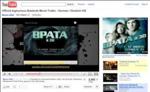 Российская реклама появляется на YouTube