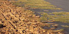 Африканское озеро Чад может полностью обмелеть