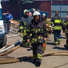 В центре Москвы загорелся офисный центр