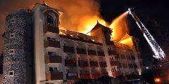 В Турции сгорел отель Side Aqua Beach, постояльцы спасены