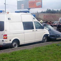 Кортеж Януковича признали виновным в аварии