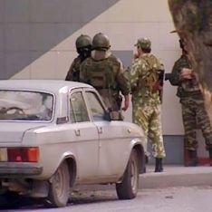 Убийцы милиционеров взорвались во время погони
